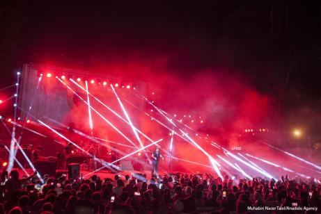 Cartago - Actuación del cantante italiano Zucchero 53º Festival Internacional celebrado en el anfiteatro de Cartago