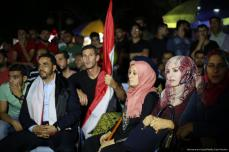 Los gazatíes celebran la clasificación de Egipto en la Copa del Mundo [Mohammed Asad / Middle East Monitor]