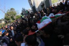 Funeral de Ibrahim Abu-Thurayya, de 29 años, asesinado por un francotirador israelí durante una protesta en Gaza contra el anuncio de Trump sobre Jerusalén, viernes 15 de diciembre de 2017 [Mohammad Asad / Middle East Monitor]