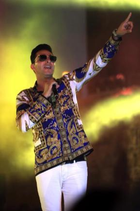 El rapero franco-argelino L'Algerino durante el 54 ° Festival Internacional de Cartago, en el Teatro Antiguo de Cartago, 8 de agosto de 2018 en Cartago, Túnez [Yassine Gaidi / Agencia Anadolu]