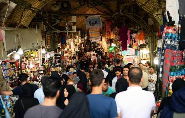 Vista de un bazar iraní mientras continúan las sanciones de Estados Unidos, el 6 de agosto de 2018 [Fatemeh Bahrami / Agencia Anadolu]
