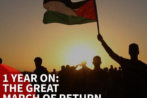 Recordando la Gran Marcha del Retorno
