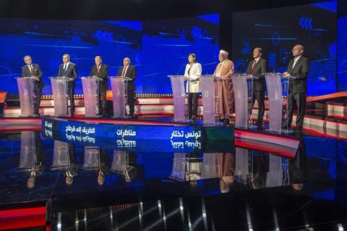 Debate televisivo entre los candidatos presidenciales en Túnez