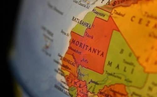 Mauritania en un mapa
