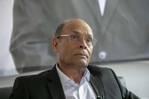 El ex presidente tunecino Moncef Marzouki en Túnez, el 1 de septiembre de 2019 [Agencia Yassine Gaidi / Anadolu]