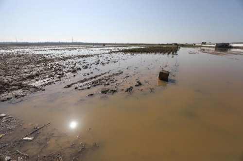 Las fuerzas israelíes abrieron tiendas de agua de lluvia que permitieron que el agua inundara Gaza el 15 de enero de 2020 [Mohammed Asad / Middle East Monitor]