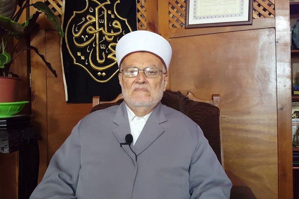 Imam de la mezquita Al-Aqsa, jeque Ekrema Sabri [Twitter]