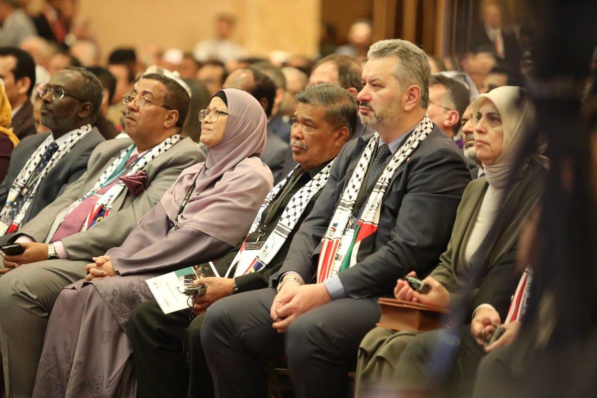 Asistentes a la 3ª Conferencia de la Plataforma Inter-parlamentaria de Jerusalén en Kuala Lumpur en Kuala Lumpur, Malasia, el 8 de febrero de 2020 [Farid Bin Tajuddi / Agencia Anadolu]