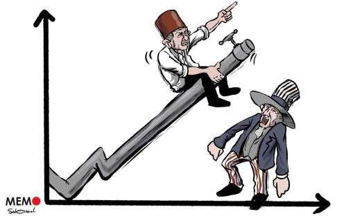 La importancia del descubrimiento del gas natural en el Mar Negro: Turquía pudiera ser un actor internacional en este campo - Caricatura [Mohammad Sabaaneh/Monitor de Oriente]