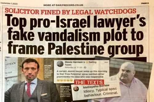 Escocia es señalada por una campaña de engaños anti-palestina