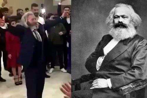 El doble de Karl Marx y su baile viral en…