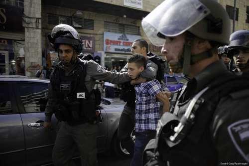 400 niños palestinos detenidos por Israel desde principios de 2020