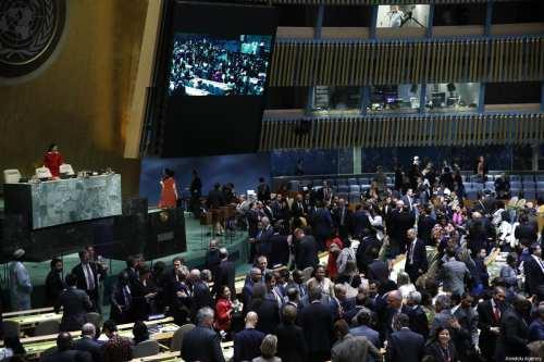 La Asamblea General de las Naciones Unidas vota a favor…