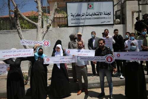 Los candidatos rechazan la cancelación de las elecciones en Palestina