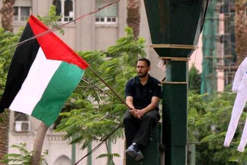 Desaparece un hombre en Egipto que ondeaba una bandera palestina…