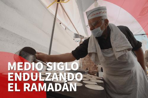 Conoce al vendedor de qatayef más veterano de Ramallah
