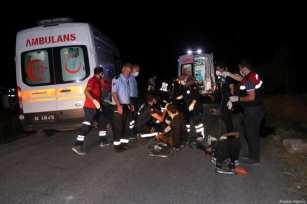 Un autobús con inmigrantes irregulares vuelca en el este de Turquía