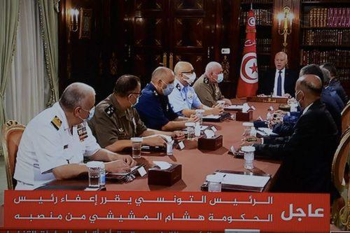 El presidente de Túnez se reúne con los mandos militares…