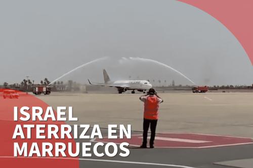 La compañía israelí El Al en su primer vuelo a…
