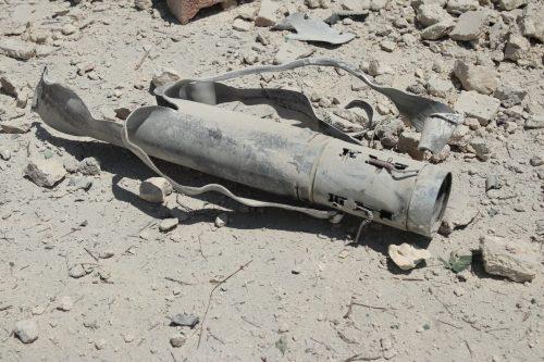 Un cohete se estrella en el lado kuwaití en la…
