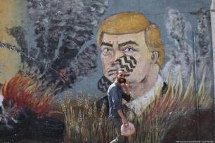 """Entidades palestinas anunciaram greve geral na Cisjordânia ocupada e na Faixa de Gaza sitiada em protesto contra a conferência """"Paz para Prosperidade"""", realizada no Bahrein, em 25 de junho de 2019 [Mohammed Asad/Monitor do Oriente Médio]"""
