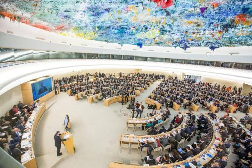 Conselho de Direitos Humanos, em Genebra. Foto: Elma Okic/ONU