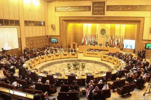 Ministros de Relações Exteriores de estados árabes, no Cairo, Egito, 1° de fevereiro de 2018 [Stringer/Agência Anadolu]