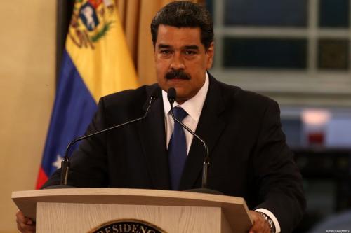 Presidente da Venezuela Nicolás Maduro na capital Caracas, em 8 de fevereiro de 2019 [Lokman Ilhan/Agência Anadolu]