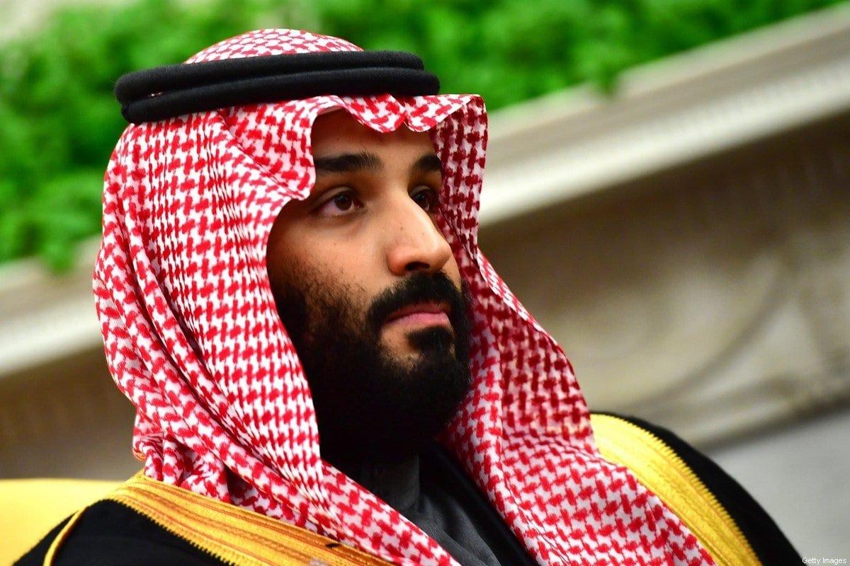 Príncipe herdeiro da Arábia Saudita Mohammed Bin Salman em Washington, EUA em 20 de março de 2018 [Kevin Dietsch-Pool / Getty Images]