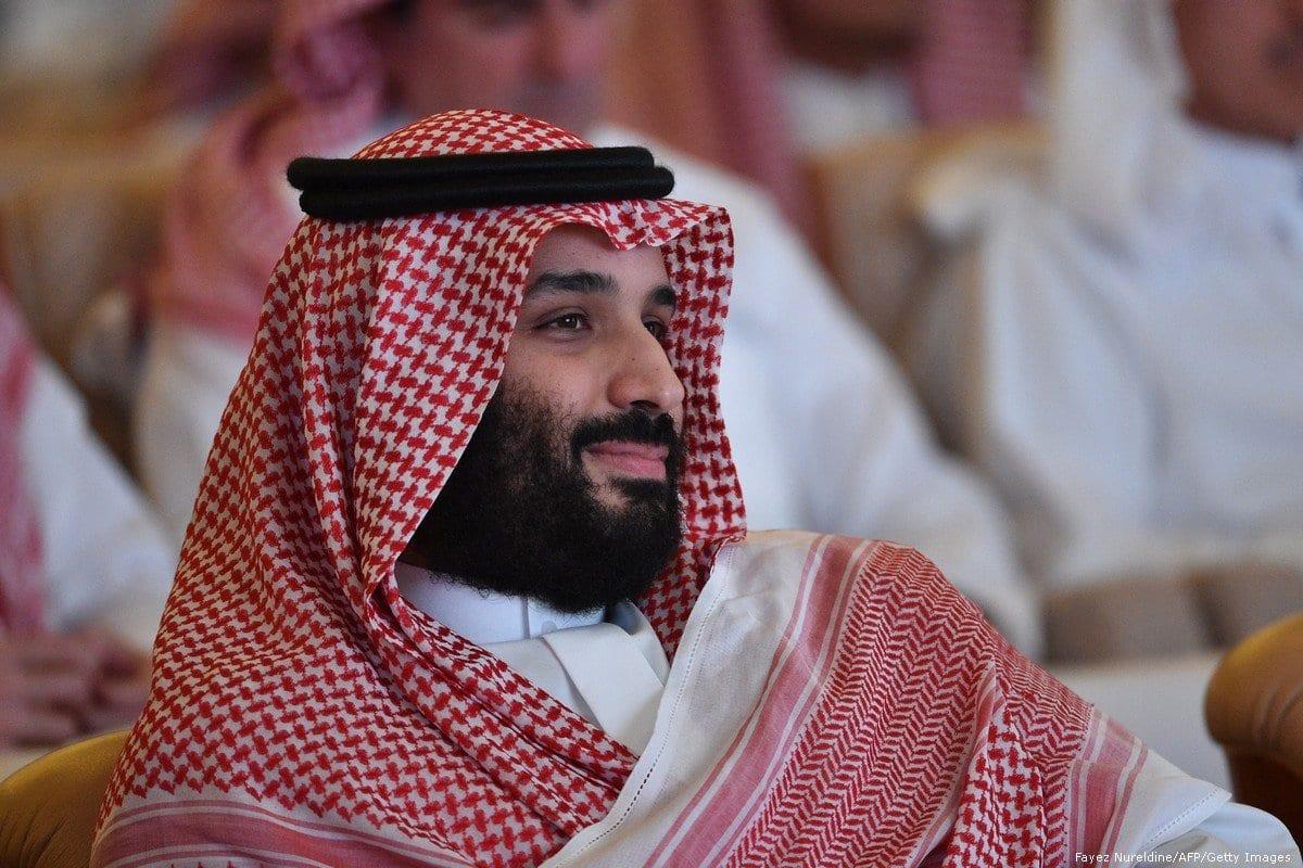 Príncipe herdeiro saudita Mohammed bin Salman, em Riyadh, Arábia Saudita, em 23 de outubro de 2018 [Fayez Nureldine / AFP / Getty Images]