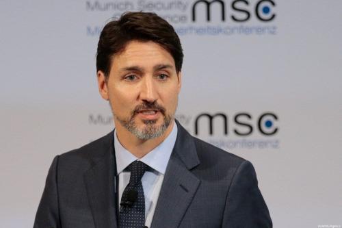 Primeiro-Ministro do Canadá Justin Trudeau participa da 56ª Conferência de Segurança de Munique no Hotel Bayerischer Hof, na Alemanha, 14 de fevereiro de 2020 [Abdulhamid Hosbas/Agência Anadolu]