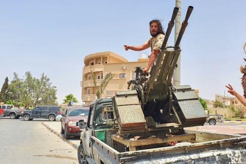 Integrante do exército líbio,em 5 de junho de 2020 [Hazem Turkia / Agência Anadolu]