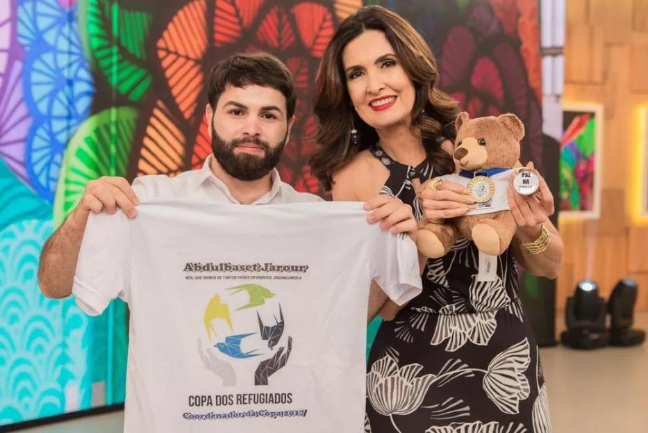 """Abdulbast Jarour no programa da rede globo """" Encontro com Fatima Bernades.""""[Arquivo pessoal]"""