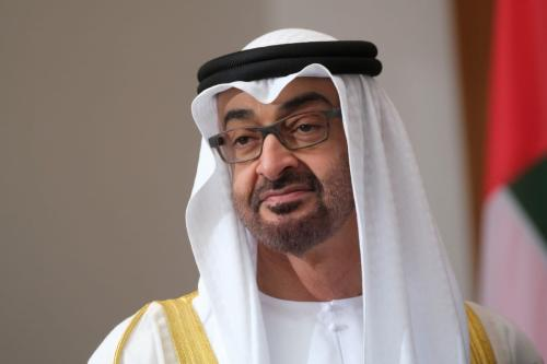 Príncipe herdeiro de Abu Dhabi, Mohammed Bin Zayed, em Berlim, Alemanha, em 11 de junho de 2019 [Sean Gallup / Getty Images]