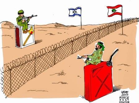 Tensões entre Israel na Fronteira [Latuff/Monitor do Oriente Médio]