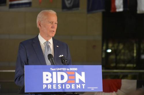 Candidato presidencial democrata dos EUA Joe Biden na Filadélfia, EUA em 10 de março de 2020 [Kyle Agência Mazza / Anadolu]