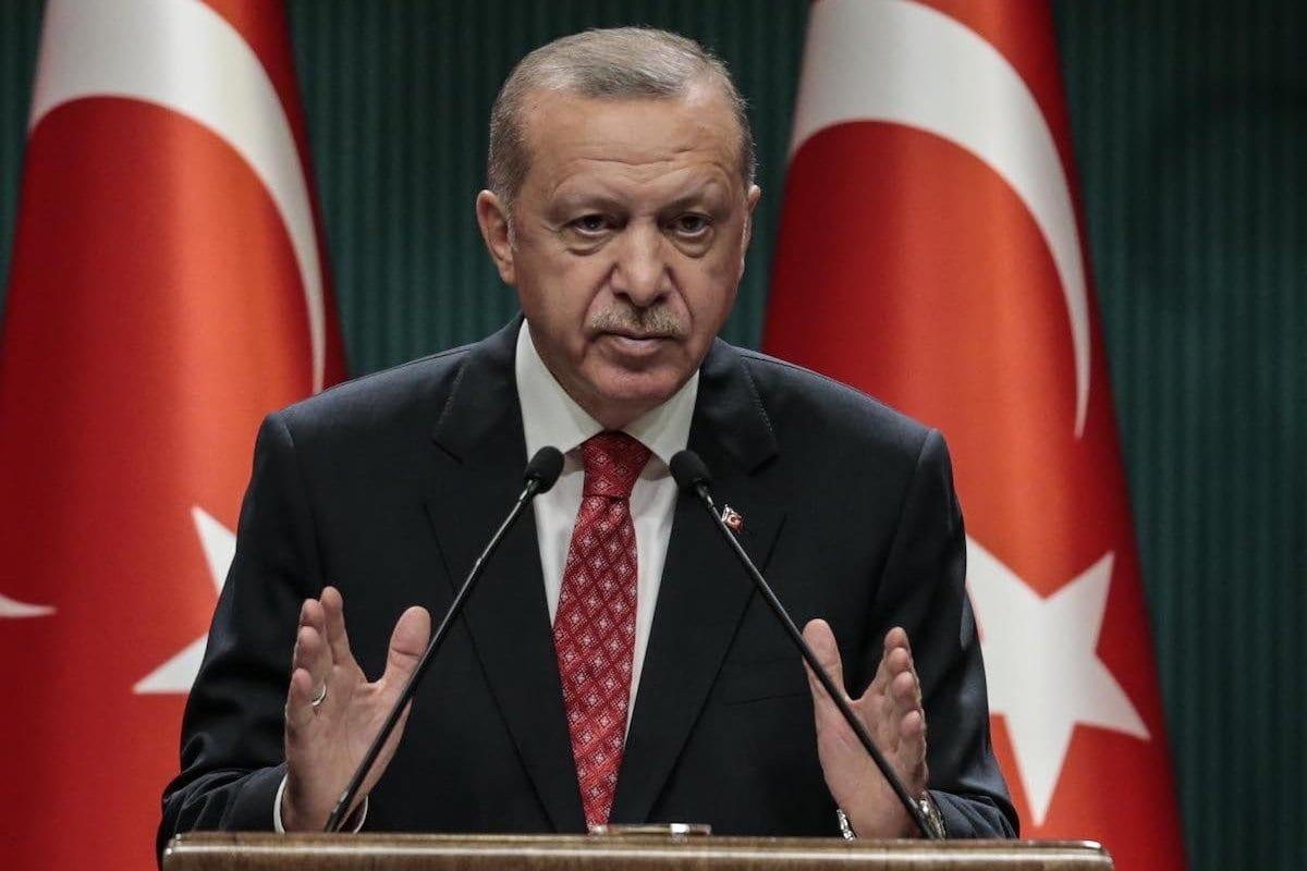 O presidente turco Recep Tayyip Erdogan em Ancara, Turquia em 10 de agosto de 2020 -Metin Aktaş / Agência Anadolu]