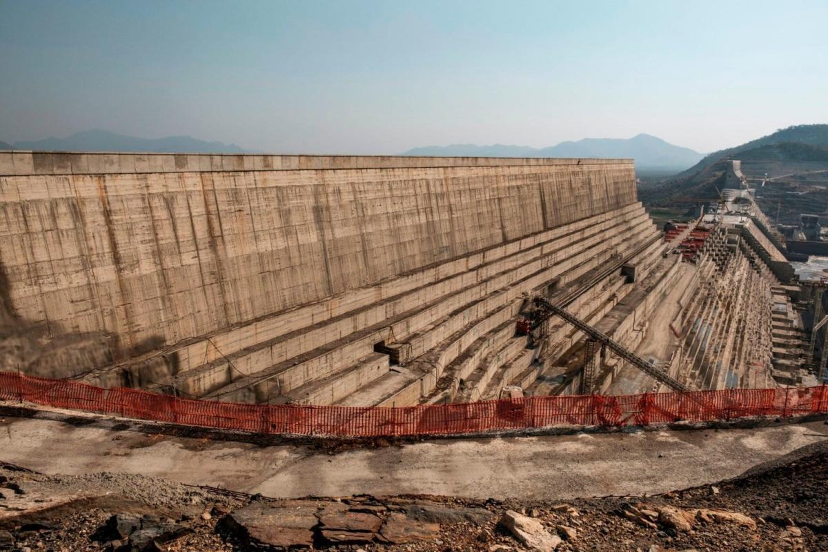 Grande Barragem da Renascença Etíope, em dezembro de 2019 [Eduardo Soteras/ AFP/ Getty Images]