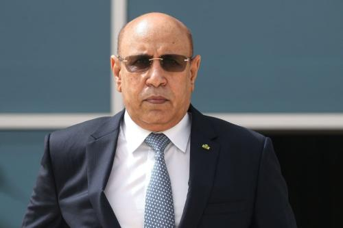 Presidente da Mauritânia, Mohamed Ould Cheikh Ghazouani, em 30 de junho de 2020, em Nouakchott [Ludovic Marin/ Pool/ AFP/ Getty Images]