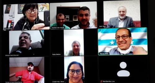 Reunião da Associação de Parlamentares da América Latina por Jerusalém, realizada em 27 de julho