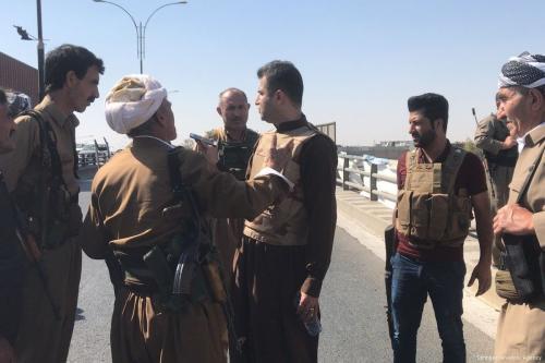Militantes do PKK no dia 16 de outubro de 2017 [Stringer / Agência Anadolu]