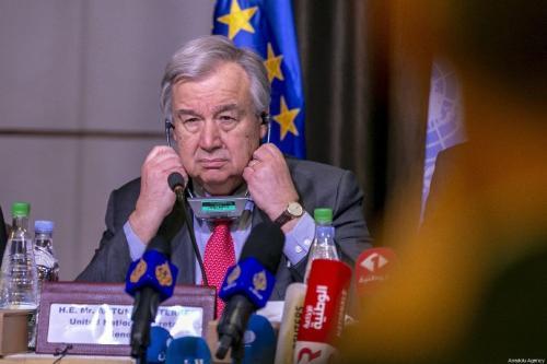Secretário-Geral da ONU António Guterres em Túnis, capital da Tunísia, 30 de março de 2019 [Yassine Gaidi/Agência Anadolu]