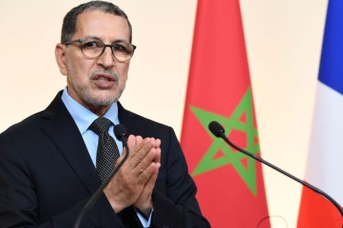 O primeiro-ministro do Marrocos, Saad-Eddine El Othmani, em Paris, em 19 de dezembro de 2019. [Bertrand Guay/ AFP via Getty Images]