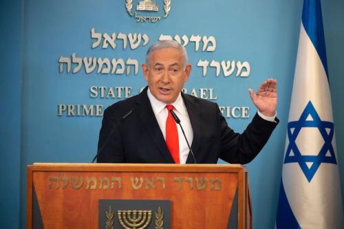 Primeiro-Ministro de Israel Benjamin Netanyahu em Jerusalém, 13 de setembro de 2020 [Yoav Dudkevitch/AFP/Getty Images]