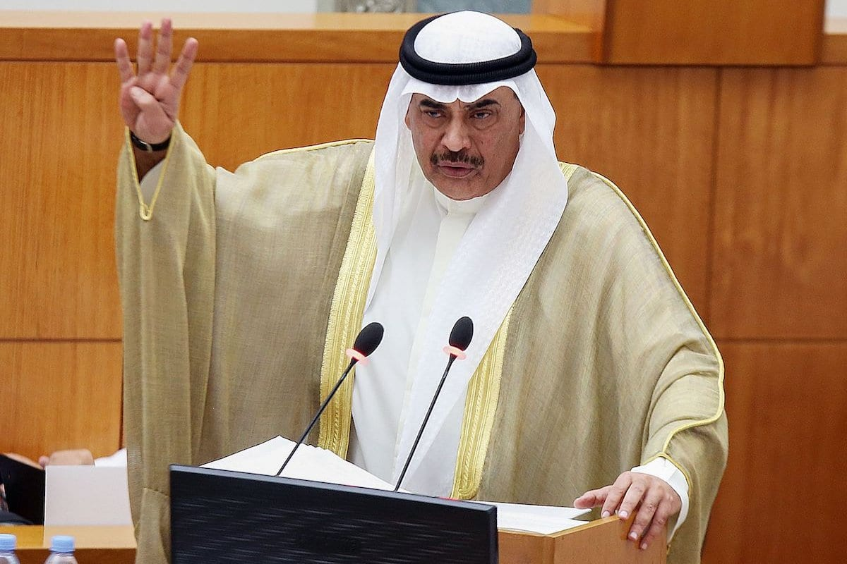O primeiro-ministro do Kuwait Sheikh Sabah al-Khaled Al-Sabah na Cidade do Kuwait em 22 de setembro de 2020 [Yasser Al-Zayyat/ AFP/ Getty Images]