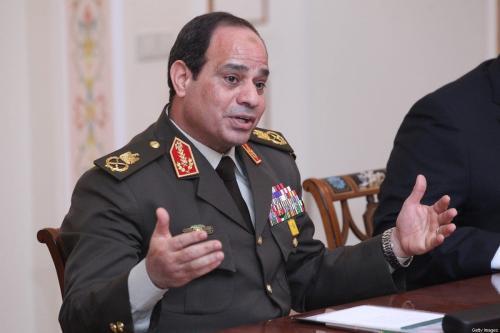 Presidente do Egito, Abdel Fattah Al-Sisi em Moscou, Rússia, em 13 de fevereiro de 2014 [Sasha Mordovets / Getty Images]