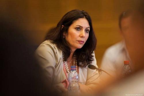 A Ministra da Cultura de Israel, Miri Regev, em 22 de abril de 2014 [Murad Samara / Facebook]