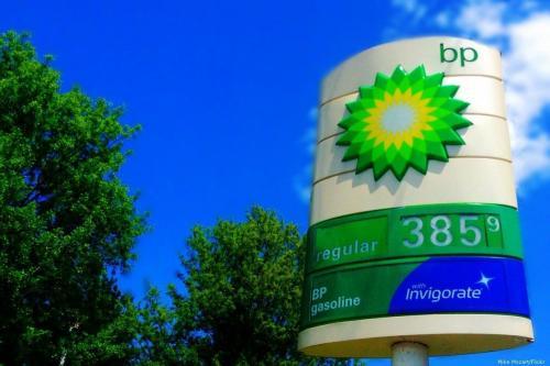 Posto de combustíveis da British Petroleum (BP), em 20 de maio de 2014 [Mike Mozart/Flickr]