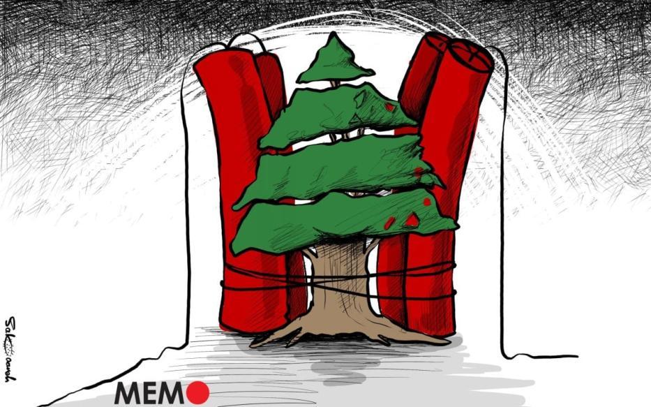 O Líbano é uma longa história de desastre e crise - Charge [Sabaaneh / Monitor do Oriente Mèdio]