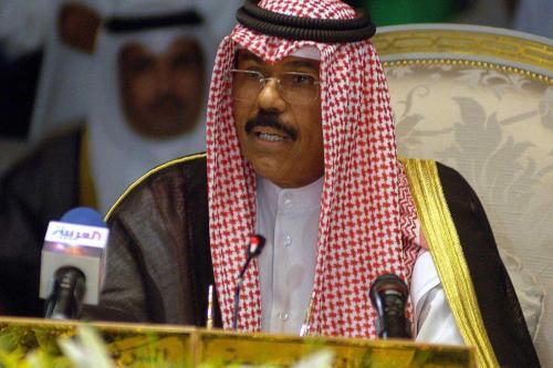 Emir do Kuwait, xeque Nawaf Al Ahmad Al Sabah, na Cidade do Kuwait, Kuwait em 9 de outubro de 2006 [Yasser Al-Zayyat/ AFP/ Getty Images]